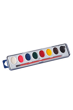 Краски акварельные полусухие