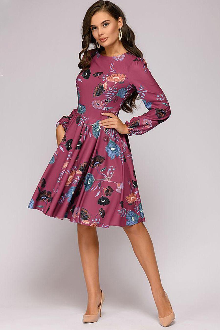 Платье для женщин 1001 DRESS 131019 купить оптом от производителя. Совместная покупка женской одежды в OptMoyo