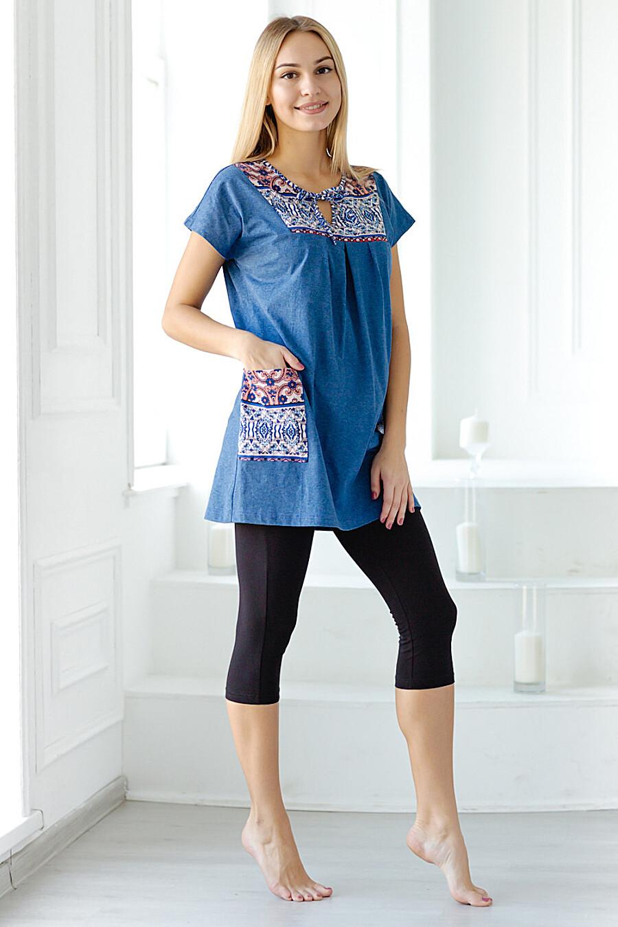 Туника для женщин АМАДЭЛЬ 140575 купить оптом от производителя. Совместная покупка женской одежды в OptMoyo