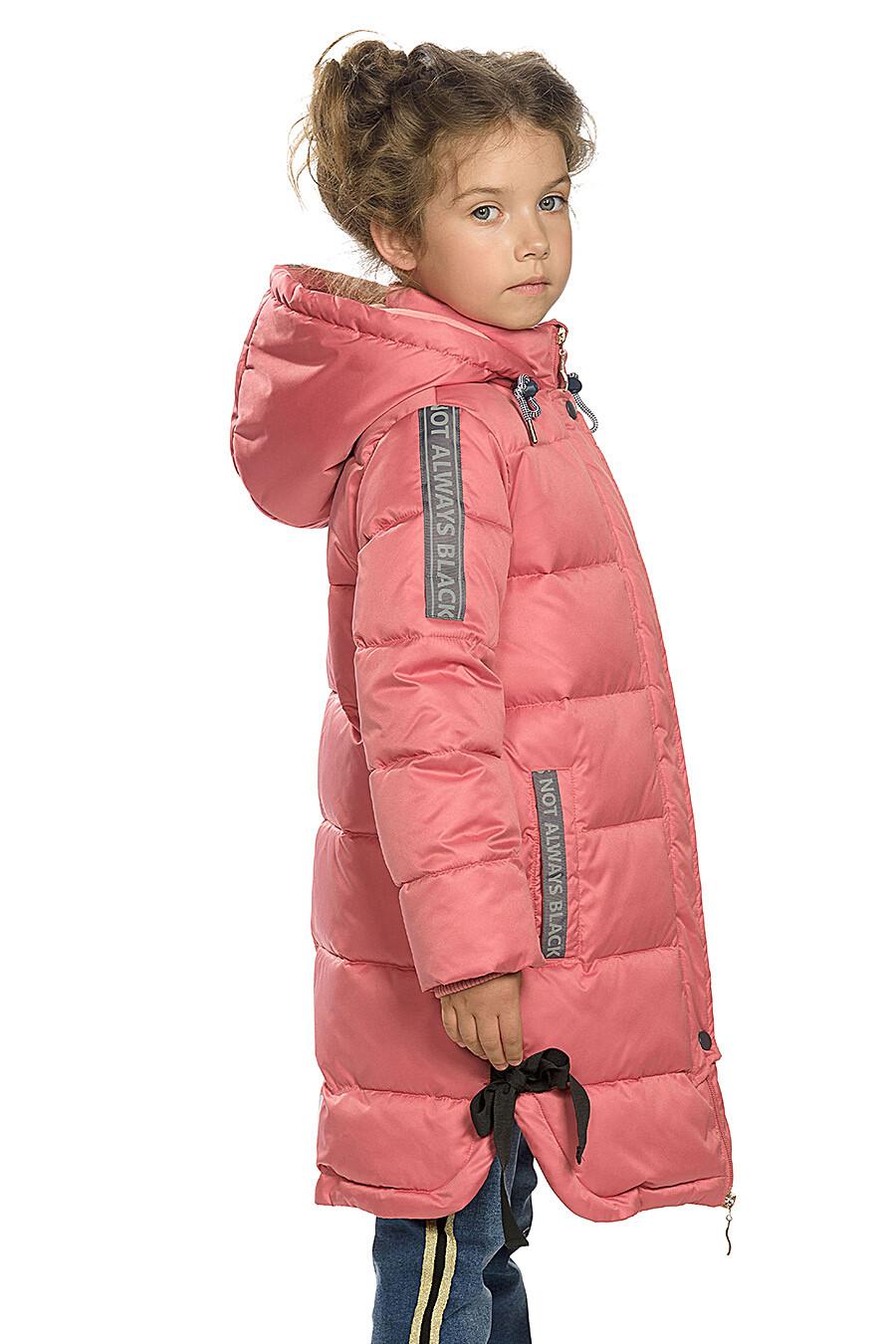 Пальто для девочек PELICAN 146284 купить оптом от производителя. Совместная покупка детской одежды в OptMoyo