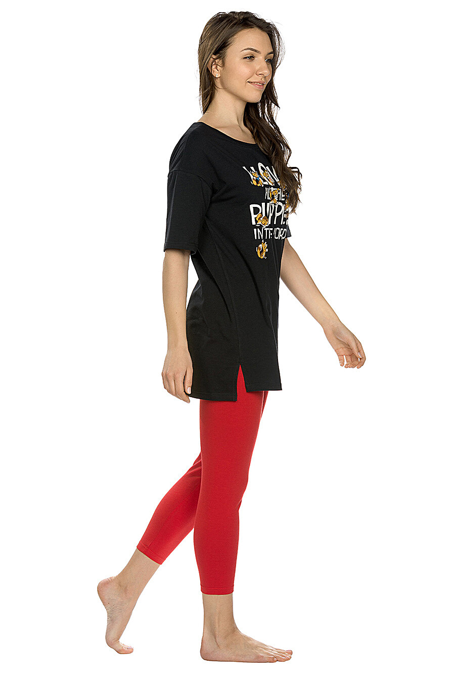 Комплект (Легинсы+Футболка) для женщин PELICAN 146702 купить оптом от производителя. Совместная покупка женской одежды в OptMoyo