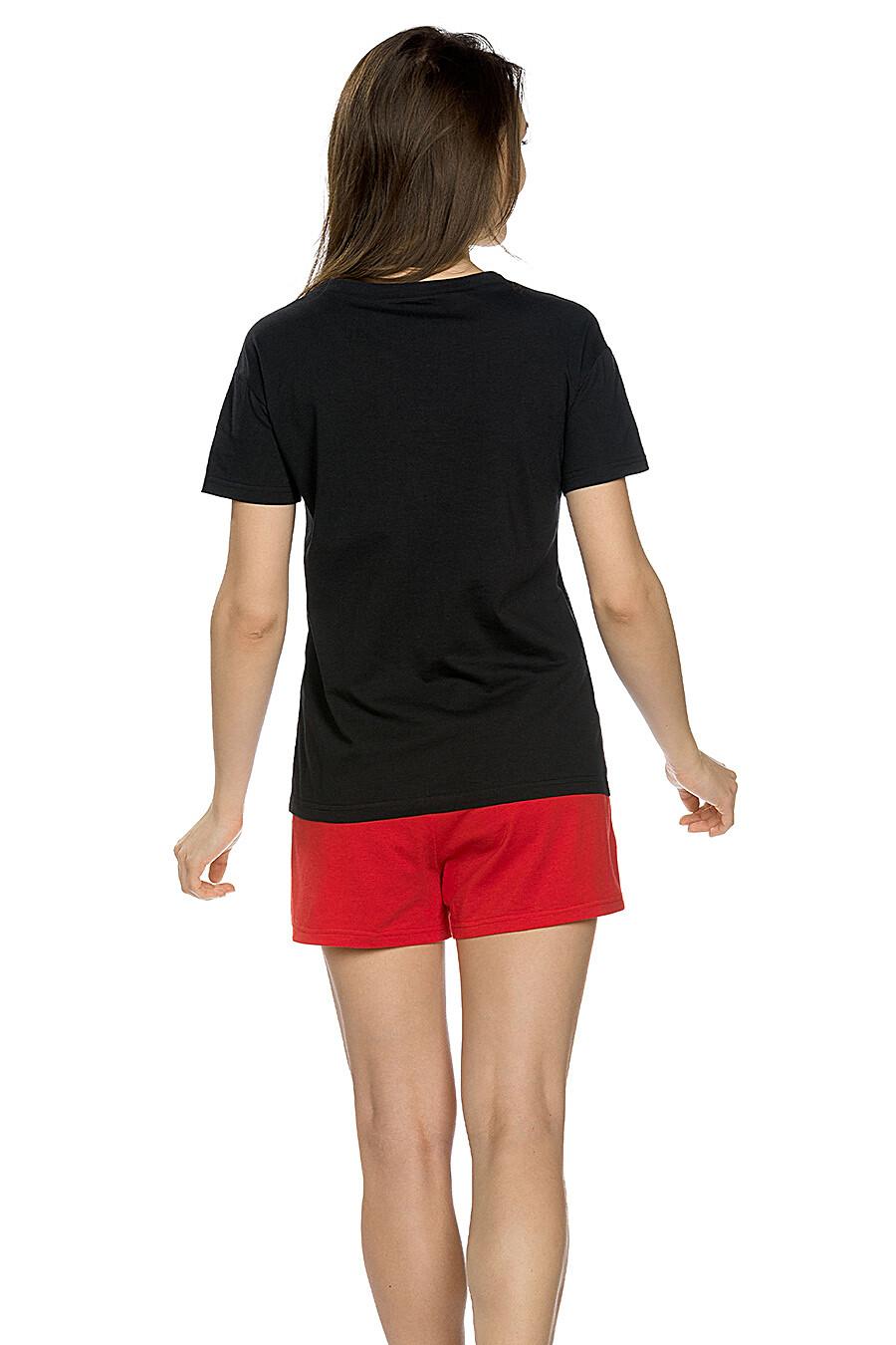 Комплект (Шорты+Футболка) для женщин PELICAN 146703 купить оптом от производителя. Совместная покупка женской одежды в OptMoyo