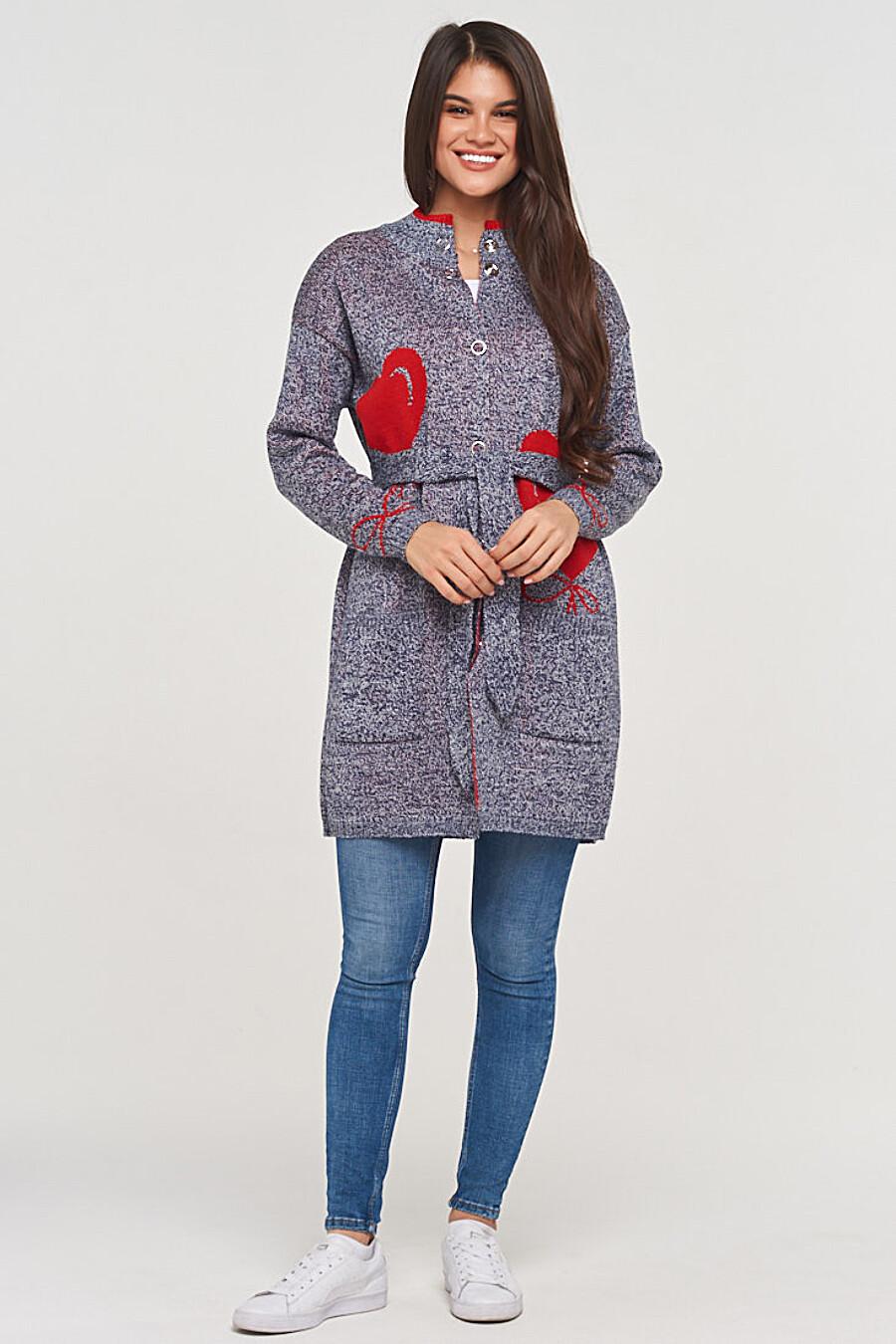 Кардиган для женщин VAY 155252 купить оптом от производителя. Совместная покупка женской одежды в OptMoyo