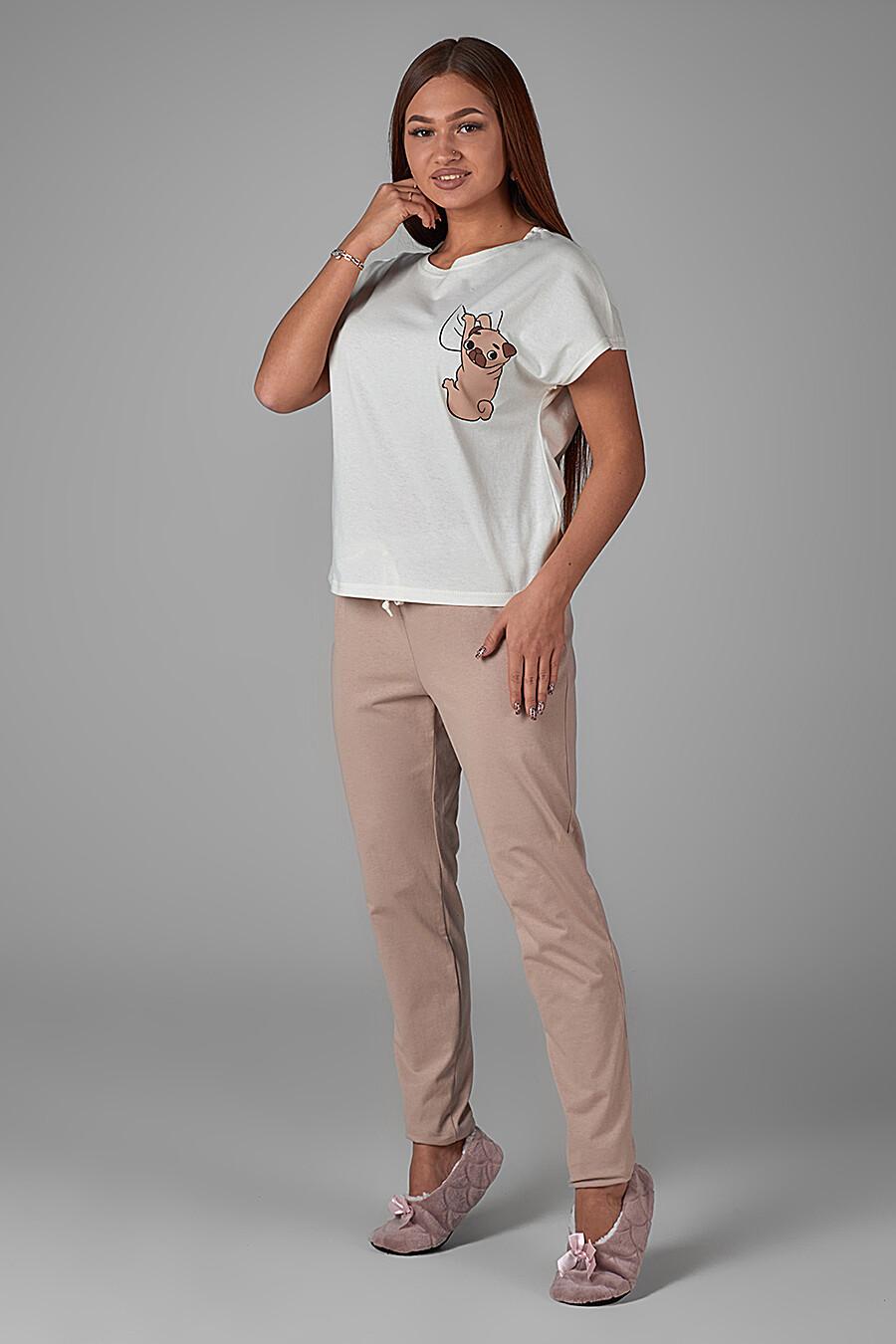 Комплект (Футболка+Брюки) для женщин ALTEX 161399 купить оптом от производителя. Совместная покупка женской одежды в OptMoyo