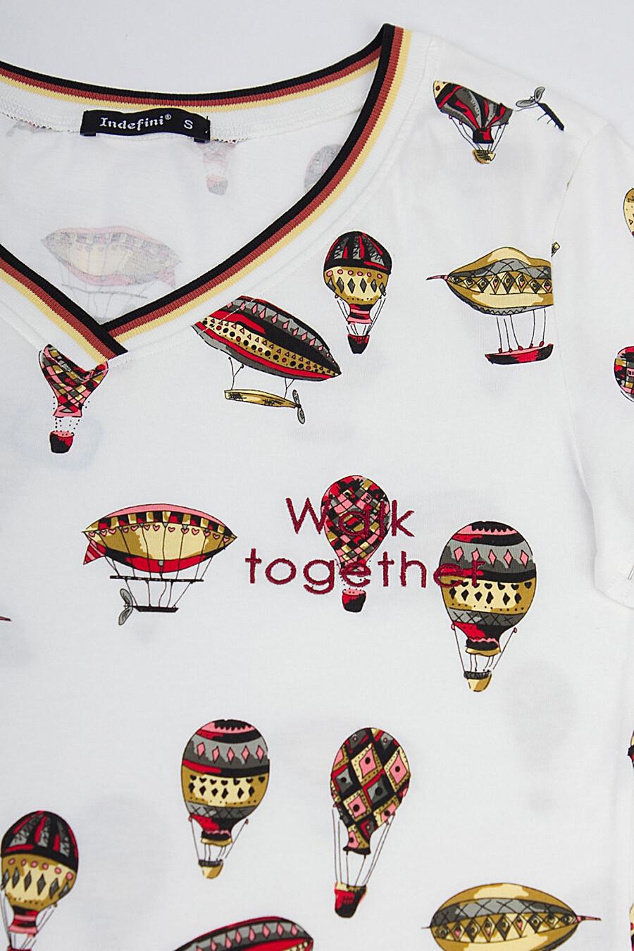 Пижама (Шорты+Футболка) для женщин INDEFINI 175857 купить оптом от производителя. Совместная покупка женской одежды в OptMoyo