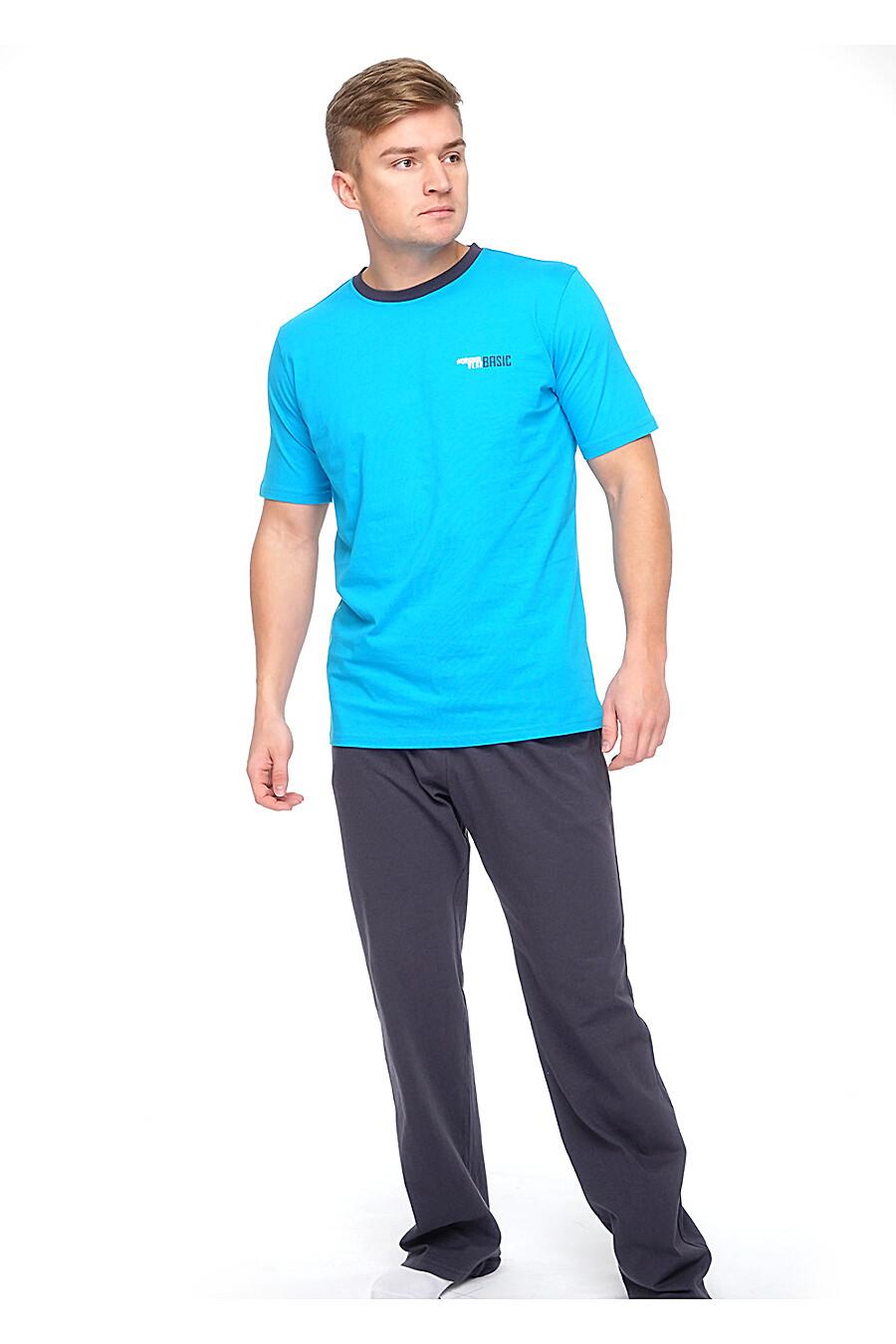 Комплект (брюки+футболка) для мужчин CLEVER 176017 купить оптом от производителя. Совместная покупка мужской одежды в OptMoyo