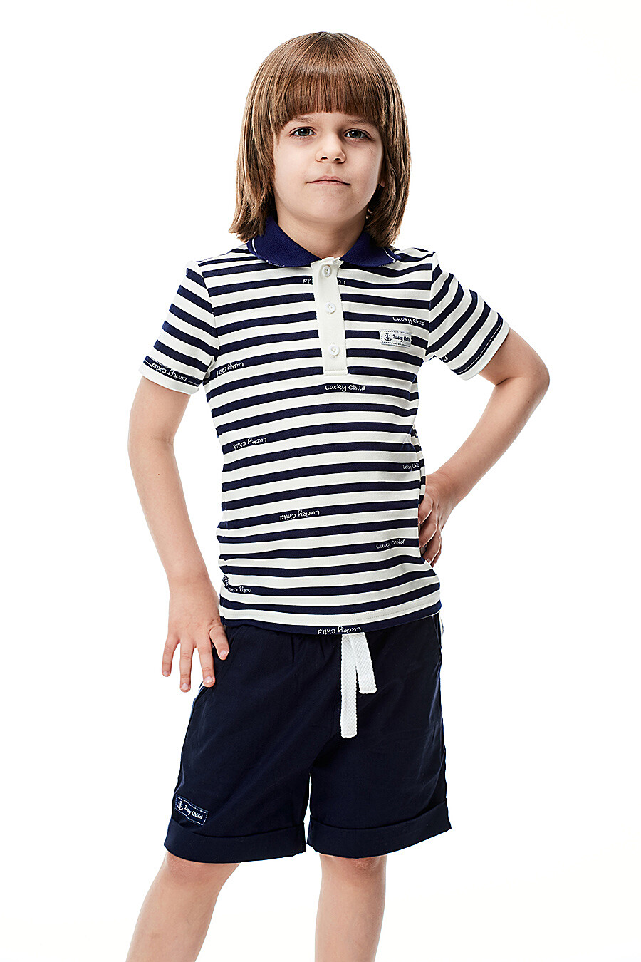 Шорты для мальчиков LUCKY CHILD 184409 купить оптом от производителя. Совместная покупка детской одежды в OptMoyo