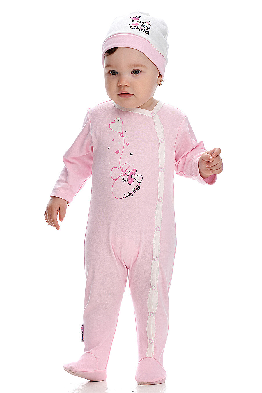 Комбинезон для девочек LUCKY CHILD 184778 купить оптом от производителя. Совместная покупка детской одежды в OptMoyo