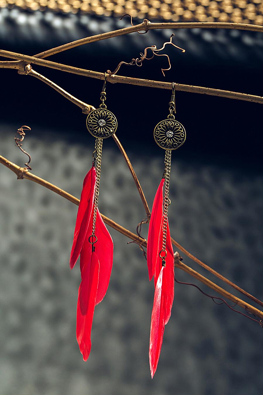 Серьги с перьями Королева лебедей в стиле бохо Nothing But Love (204900), купить в Moyo.moda