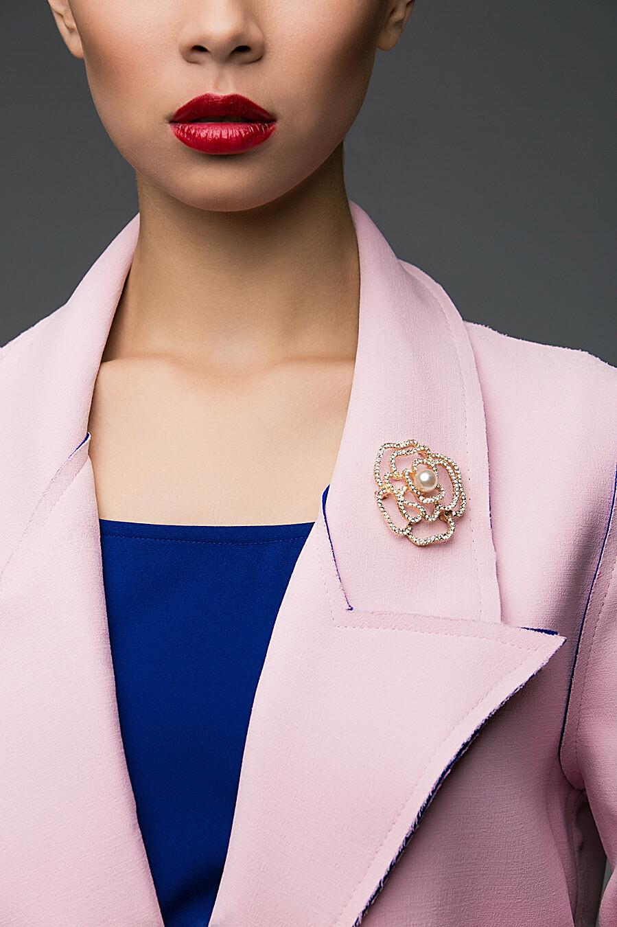 Брошь Совершеный цветок Алсмера для женщин Nothing But Love 204911 купить оптом от производителя. Совместная покупка женской одежды в OptMoyo