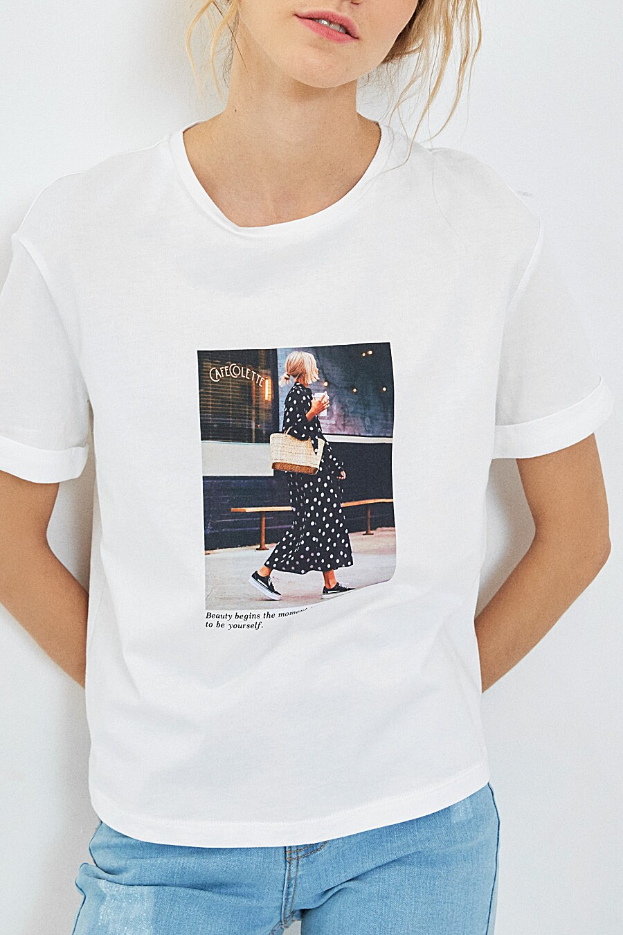 Футболка для женщин ZARINA 205204 купить оптом от производителя. Совместная покупка женской одежды в OptMoyo