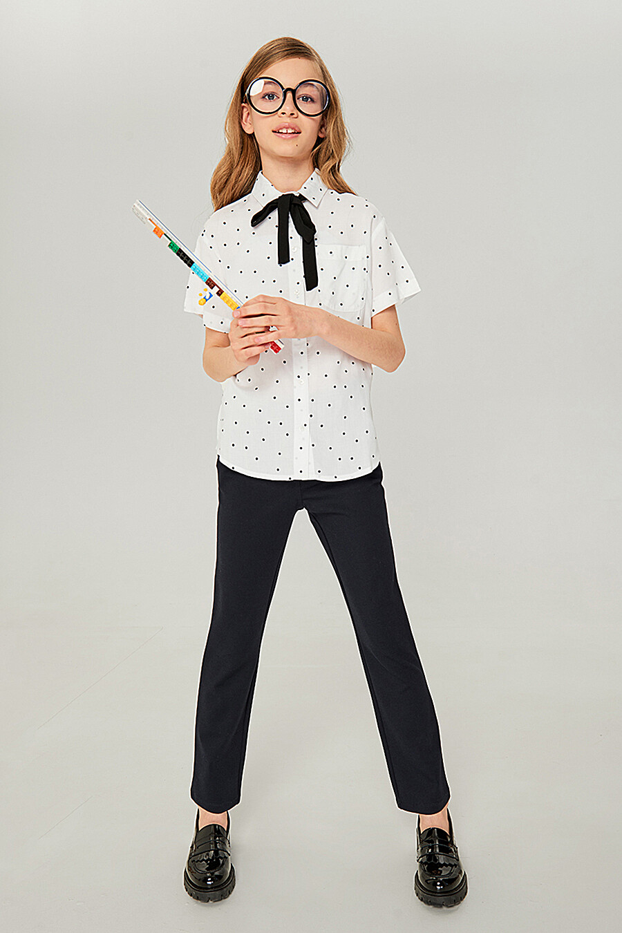 Блуза для девочек IN FUNT 219082 купить оптом от производителя. Совместная покупка детской одежды в OptMoyo