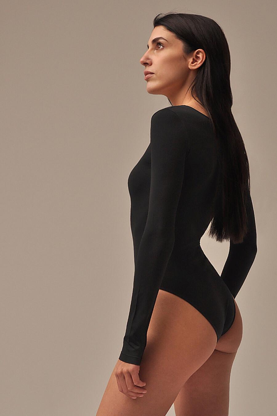 MY Боди женское BO289 BODY MANICA LUNGA (1/68) (nero (черный) для женщин MY 260976 купить оптом от производителя. Совместная покупка женской одежды в OptMoyo