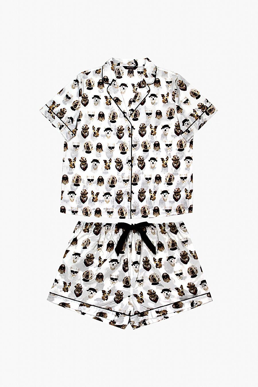 Пижама (Футболка + Шорты) для женщин INDEFINI 272377 купить оптом от производителя. Совместная покупка женской одежды в OptMoyo