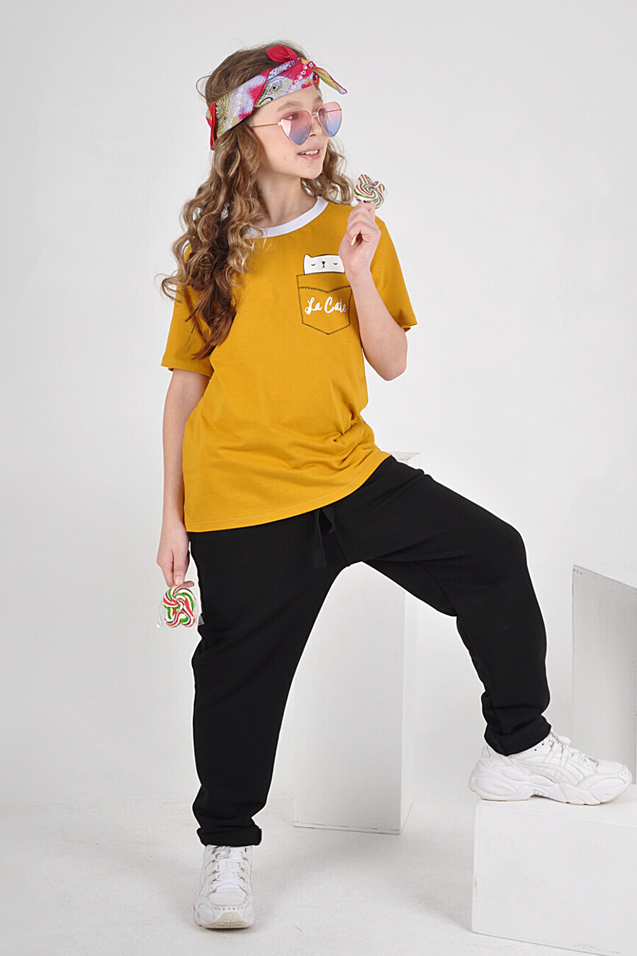Футболка 1479 для девочек НАТАЛИ 288674 купить оптом от производителя. Совместная покупка детской одежды в OptMoyo