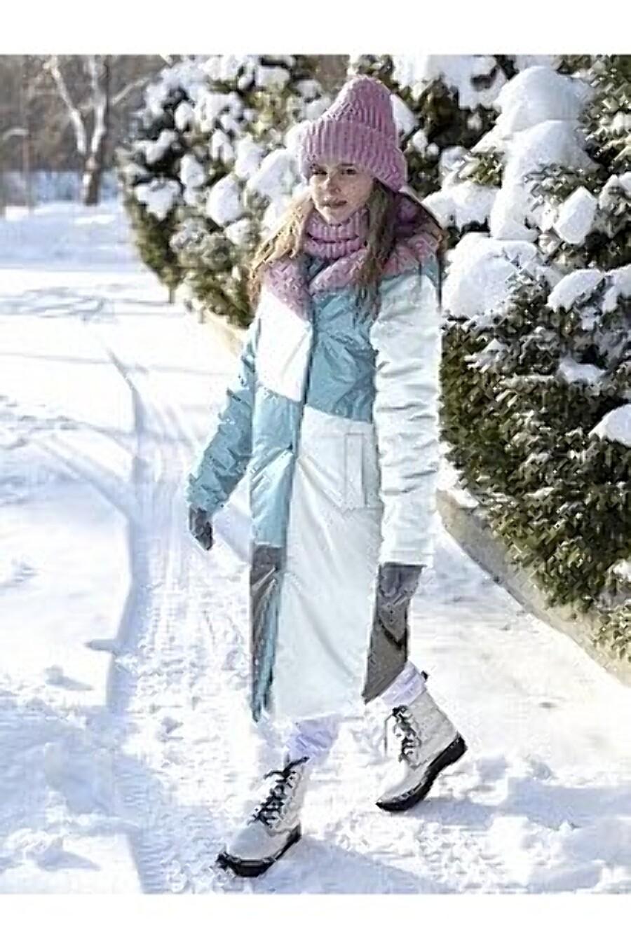 Пальто 6з5021 бирюзовый/серебро NIKASTYLE (289017), купить в Moyo.moda