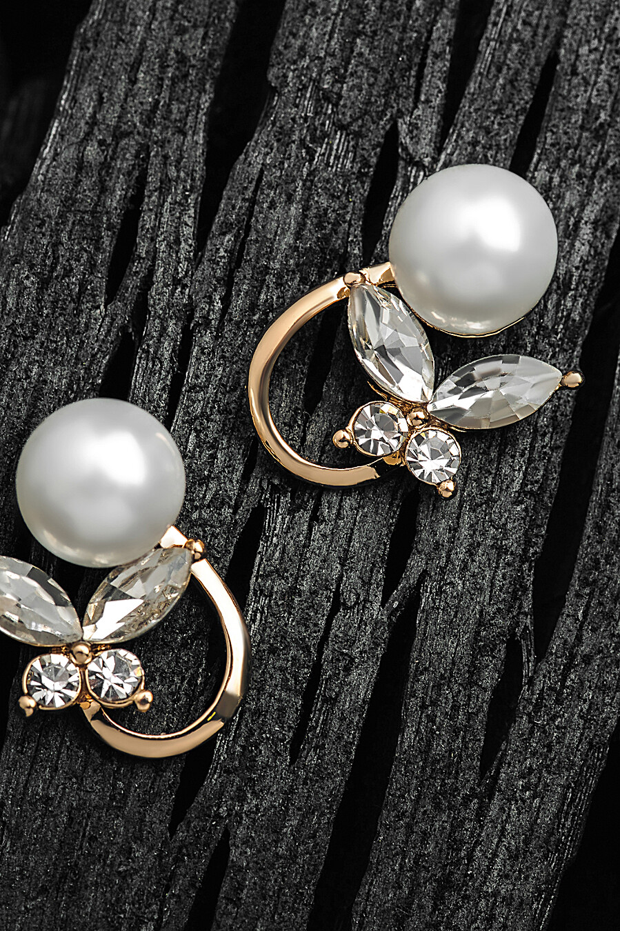 Серьги Счастье быть женщиной с искусственным жемчугом и камнями Nothing But Love (307833), купить в Moyo.moda