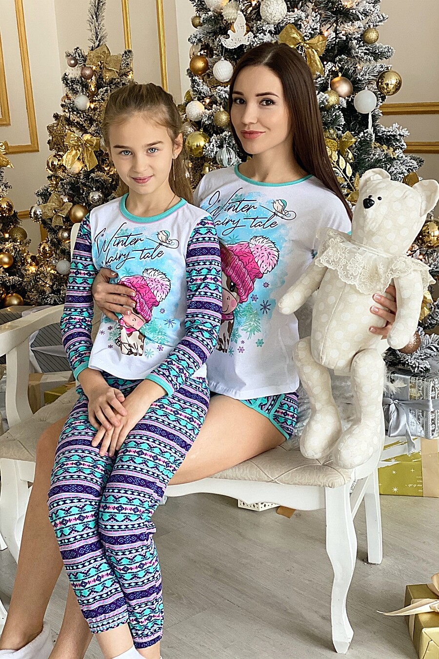 Пижама 5082 детская для девочек НАТАЛИ 321659 купить оптом от производителя. Совместная покупка детской одежды в OptMoyo