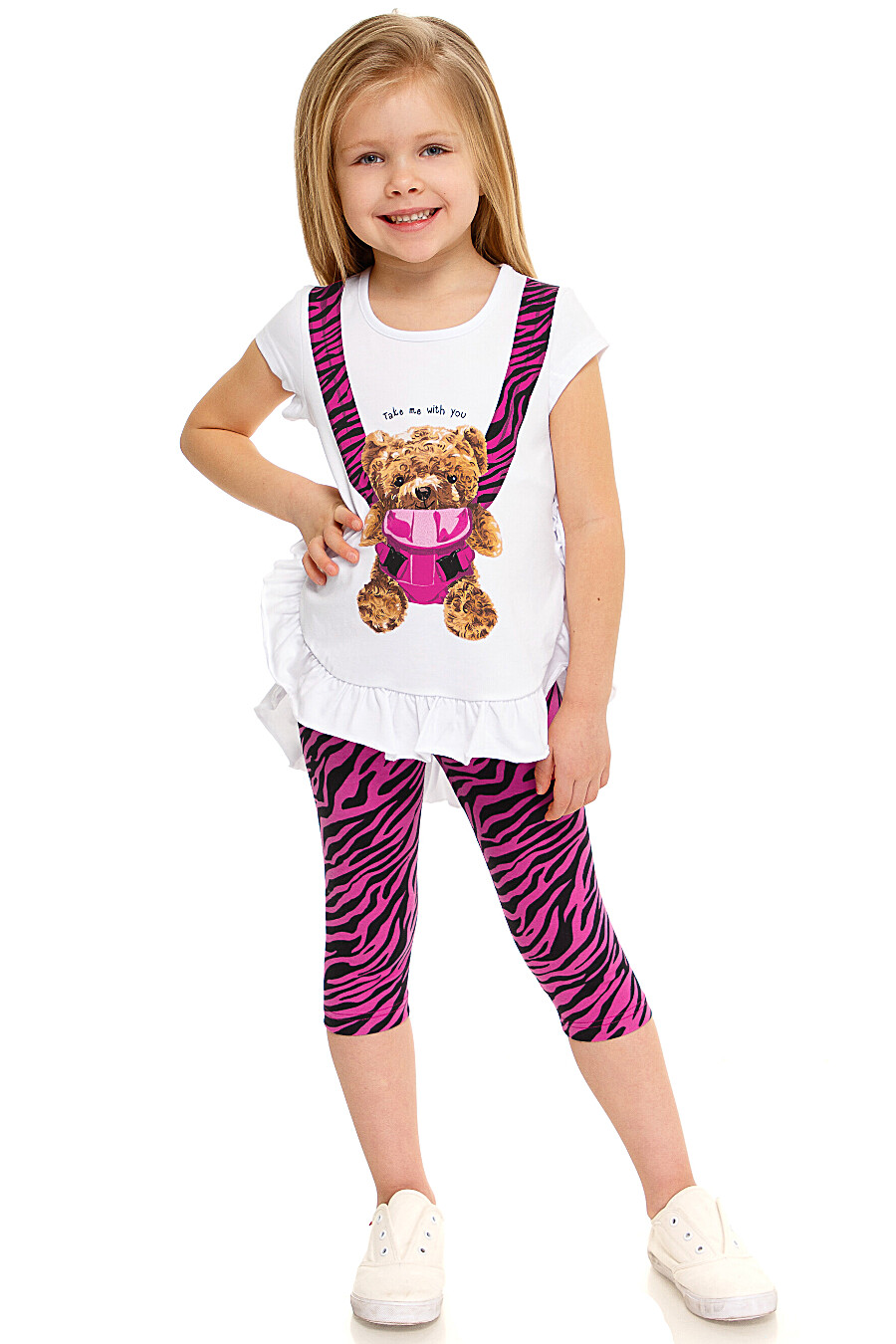 Бриджи для девочек АПРЕЛЬ 649109 купить оптом от производителя. Совместная покупка детской одежды в OptMoyo