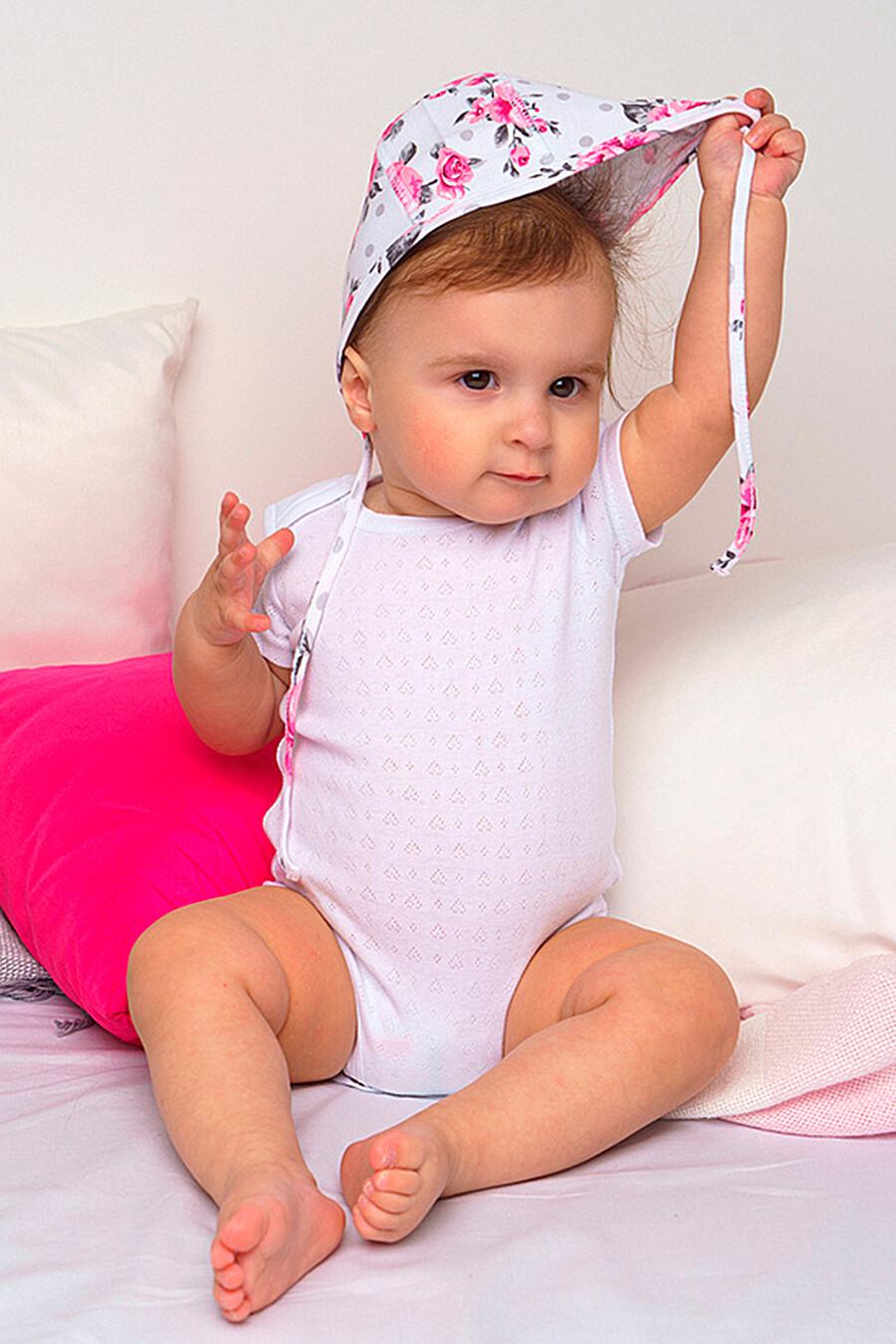 Костюм (боди+комбинезон+нагрудник+чепчик) для девочек PLAYTODAY 649416 купить оптом от производителя. Совместная покупка детской одежды в OptMoyo