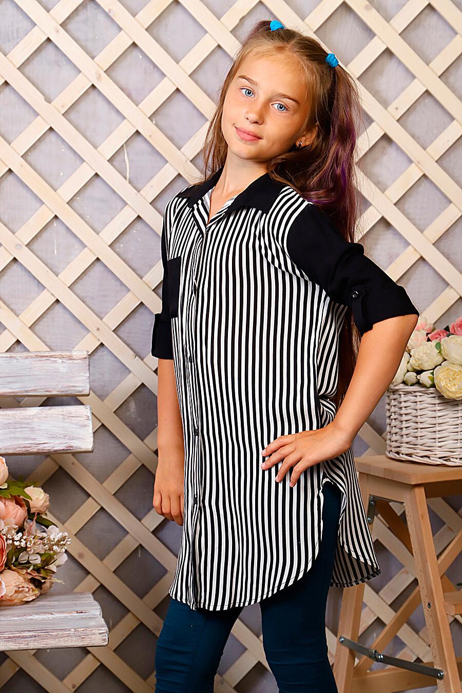 Туника-рубашка для девочек SOFIYA37 667926 купить оптом от производителя. Совместная покупка детской одежды в OptMoyo