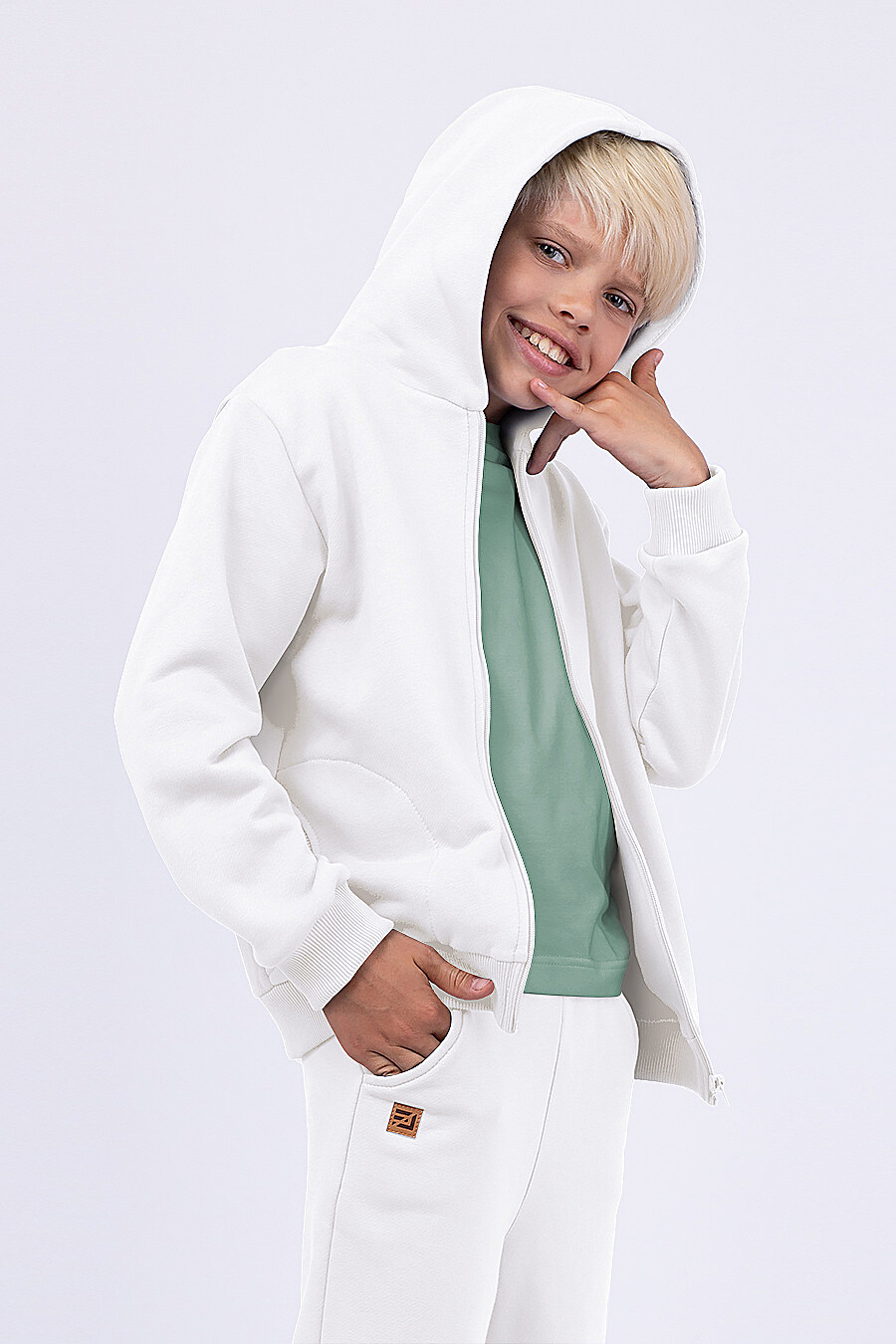 Костюм(Толстовка+Брюки) для мальчиков EZANNA 682385 купить оптом от производителя. Совместная покупка детской одежды в OptMoyo