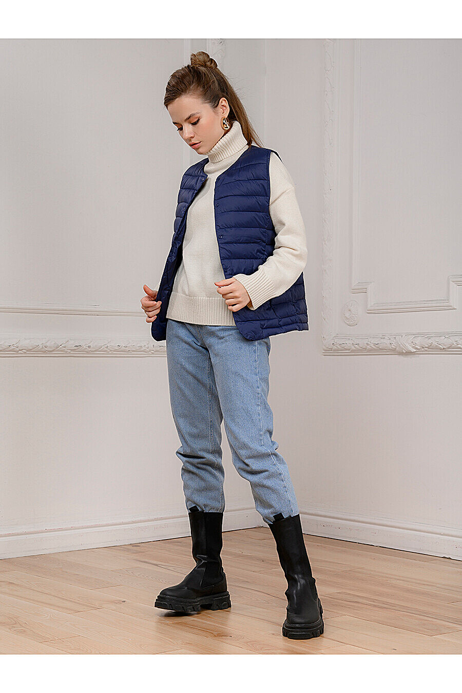 Жилет для женщин 1001 DRESS 707051 купить оптом от производителя. Совместная покупка женской одежды в OptMoyo