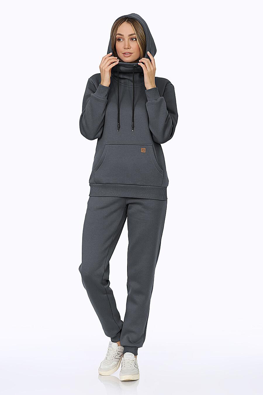 Костюм (Брюки+Худи) для женщин EZANNA 707987 купить оптом от производителя. Совместная покупка женской одежды в OptMoyo