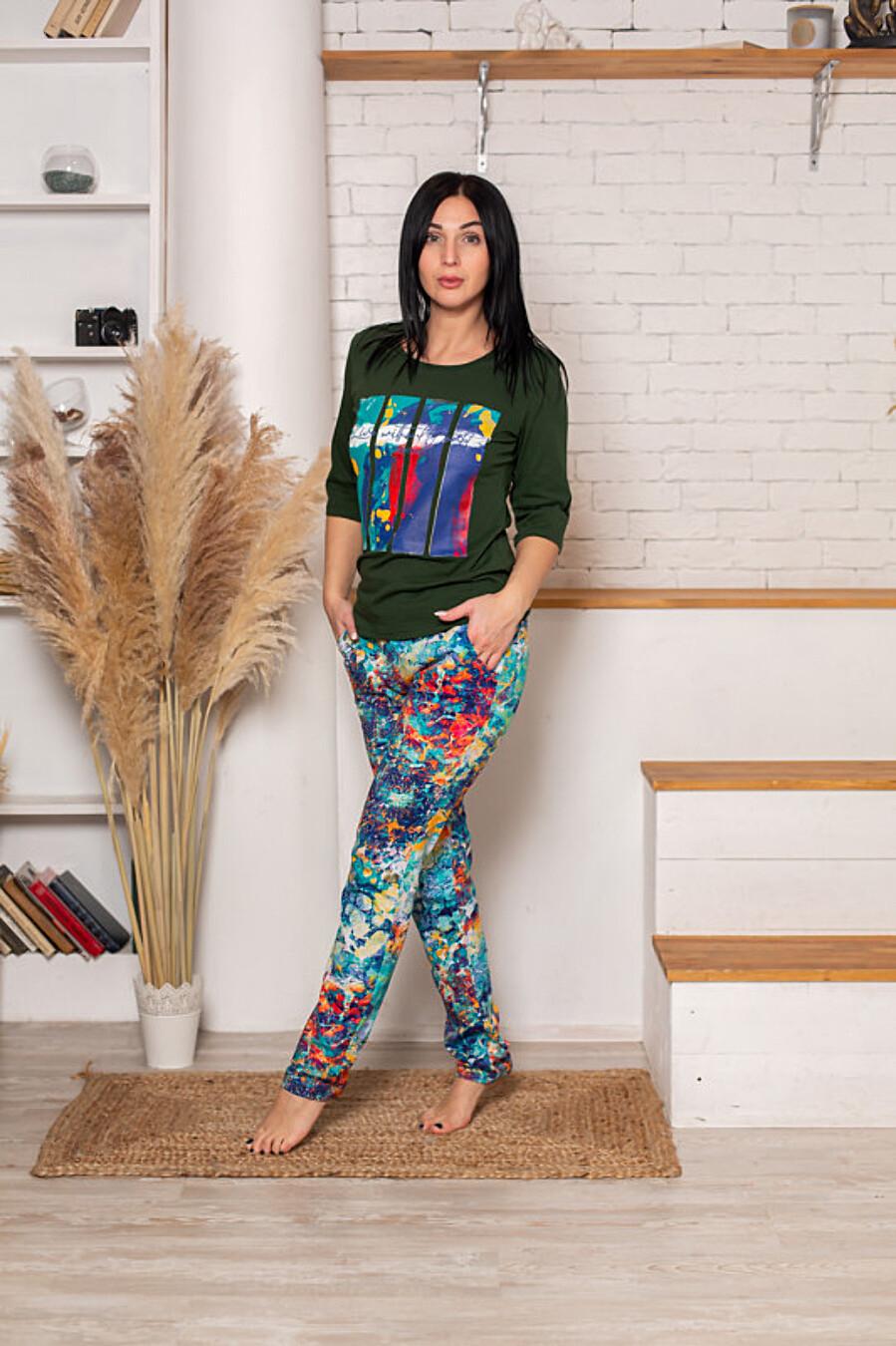 Костюм (футболка+брюки) для женщин SOFIYA37 708050 купить оптом от производителя. Совместная покупка женской одежды в OptMoyo