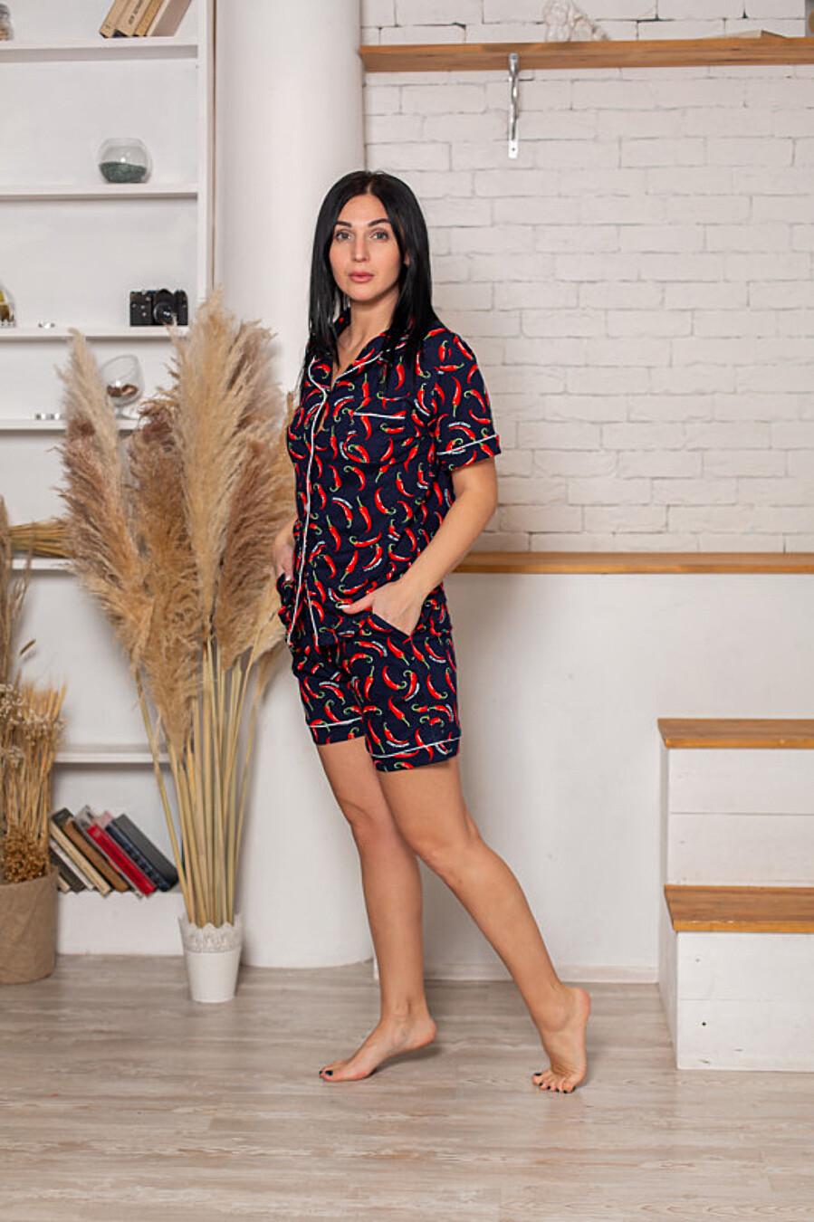 Костюм (рубашка+шорты) для женщин SOFIYA37 708060 купить оптом от производителя. Совместная покупка женской одежды в OptMoyo