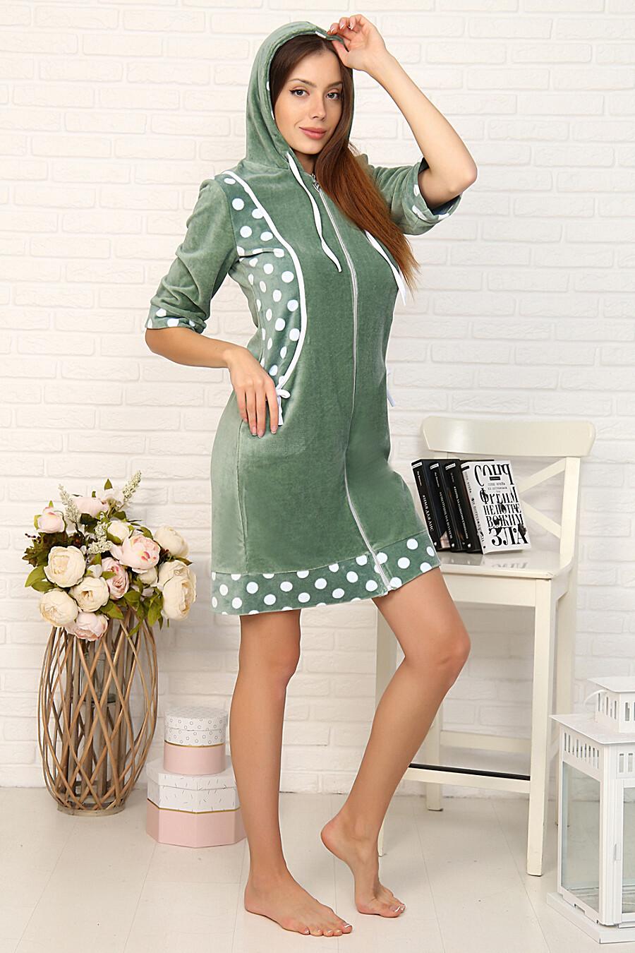Халат 46017 для женщин НАТАЛИ 708420 купить оптом от производителя. Совместная покупка женской одежды в OptMoyo