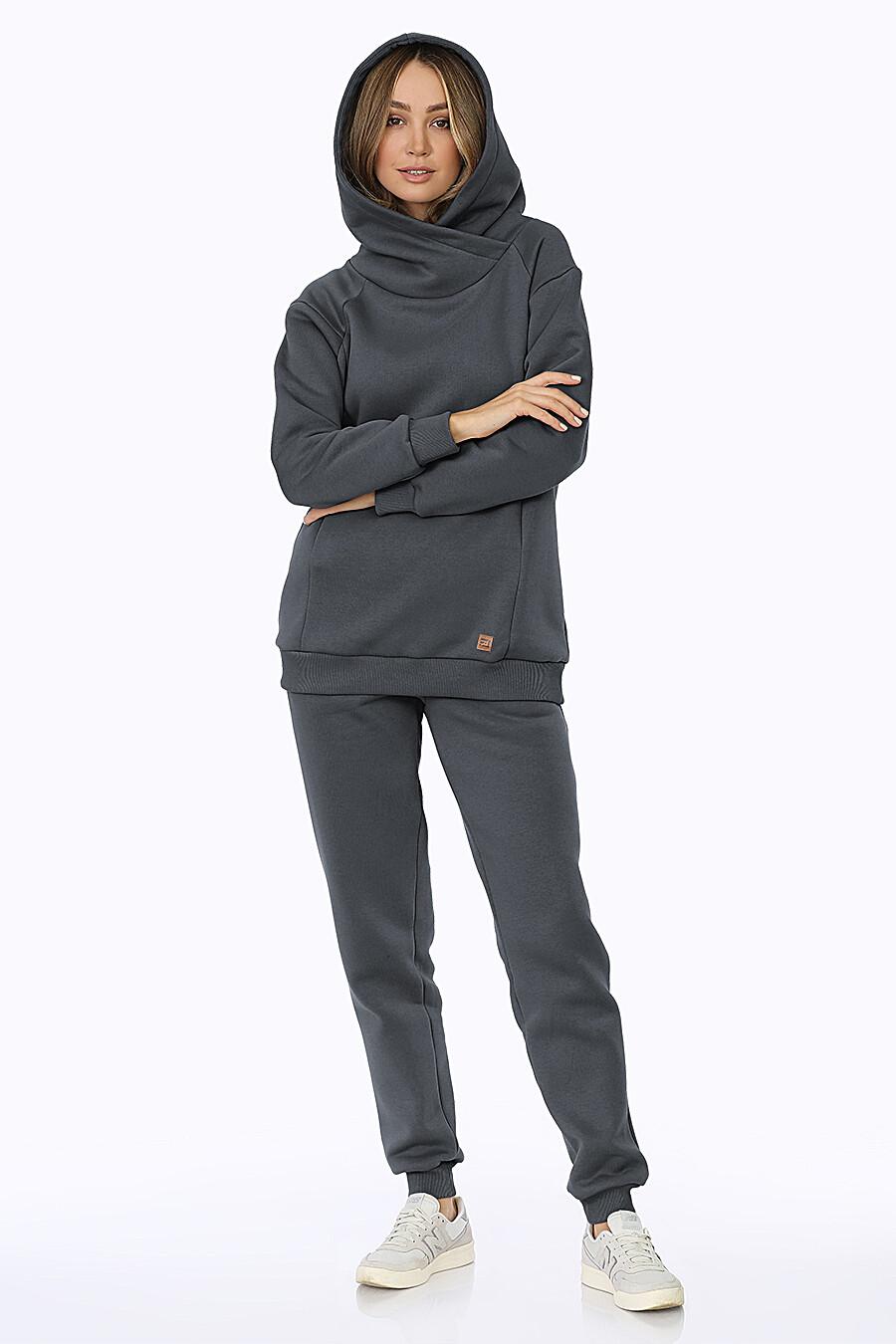Костюм (Брюки+Худи) для женщин EZANNA 708527 купить оптом от производителя. Совместная покупка женской одежды в OptMoyo