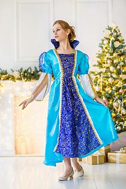 Костюм принцессы, королевы Эльзы, снежной королевы LA MASCARADE