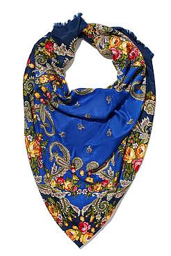 Женский платок с бахромой и павлопосадским орнаментом Nothing But Love