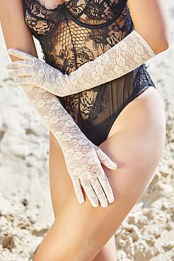 """Ажурные перчатки """"Призрачная красота"""" LE CABARET"""