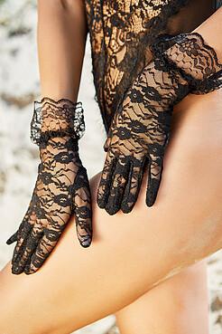 """Ажурные перчатки """"Французский поцелуй"""" LE CABARET"""