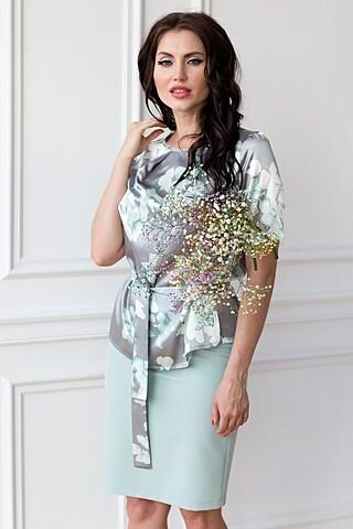 Костюм (блуза+юбка+поясок) LADY TAIGA