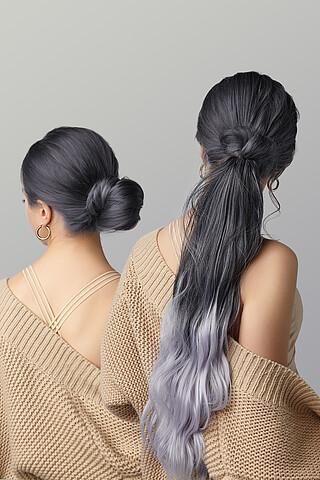 """Накладной хвост шиньон накладные волосы с градиентно окрашенными прядями с заколкой """"Кассандра"""" Nothing But Love"""