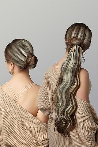 "Накладной хвост шиньон накладные волосы шиньон с эффектом мелирования шиньон с заколкой ""Эллада"" Nothing But Love"