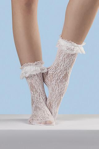 """Носки носки ажурные носки кружевные носки женские высокие носки носки с кружевами """"Изящная эпоха"""" MERSADA"""
