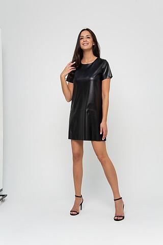 Платье из экокожи RAPOSA
