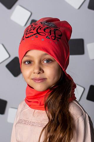"Комплект ""Принцесса Коралл"" (шапка + снуд) ДЕТСКИЙ ТРИКОТАЖ 37"