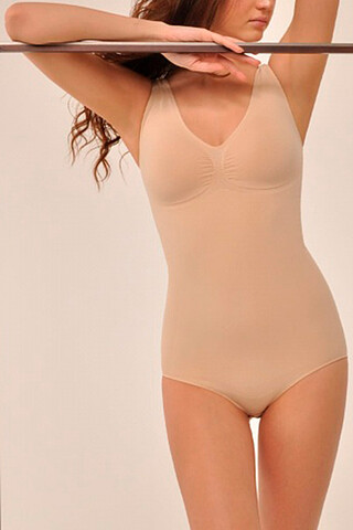 MY Боди женское BO117 BODY SHAPER SPALLA LARGA (1/68) (nudo (телесный) MY