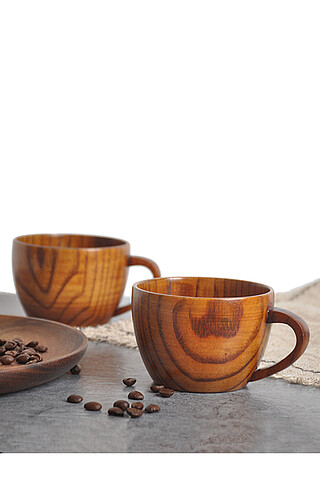 """Деревянная чашка 150 мл """"Приятель по кофе"""" Nothing Shop"""