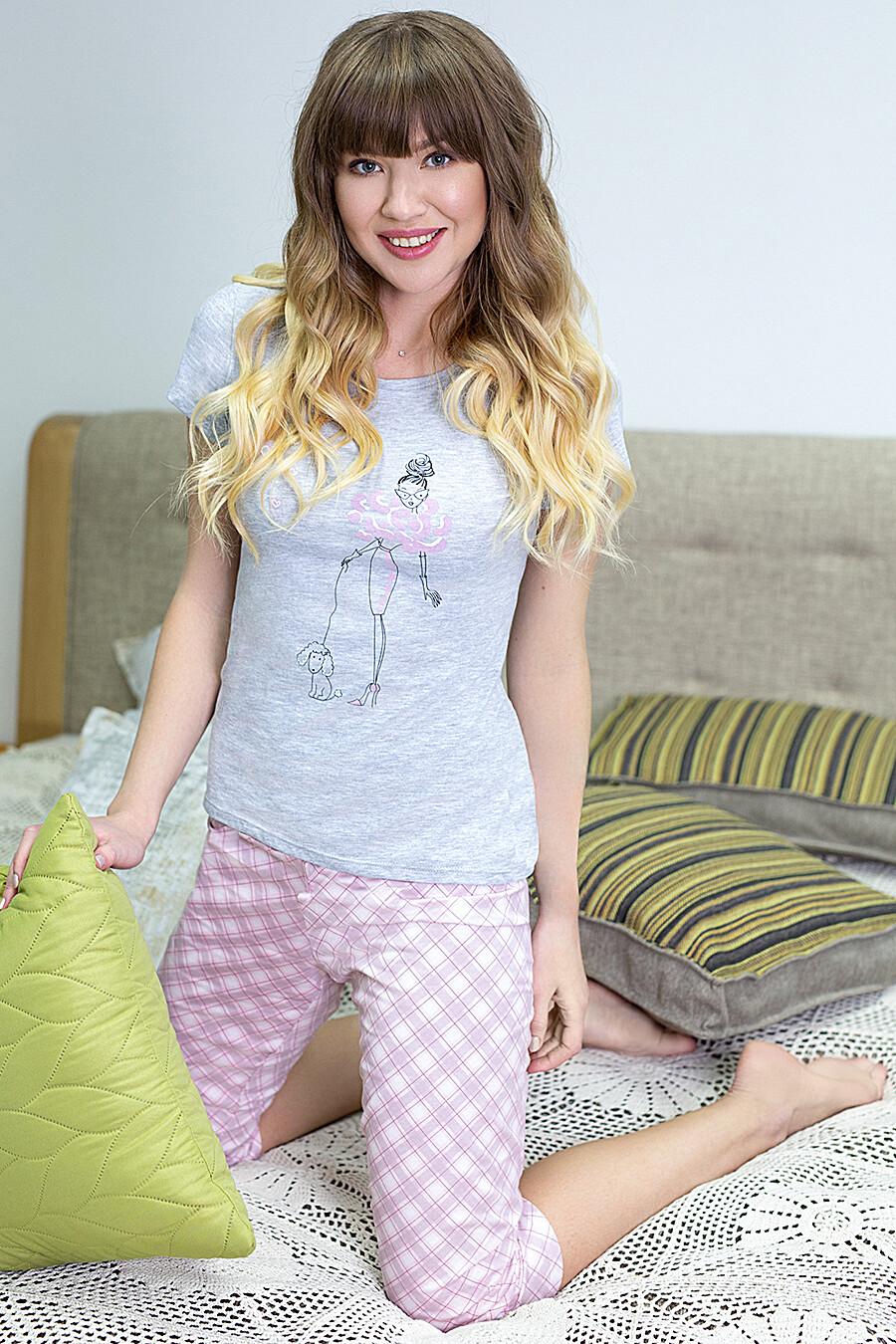 Пижама (Футболка+Бриджи) для женщин LEINLE 116776 купить оптом от производителя. Совместная покупка женской одежды в OptMoyo
