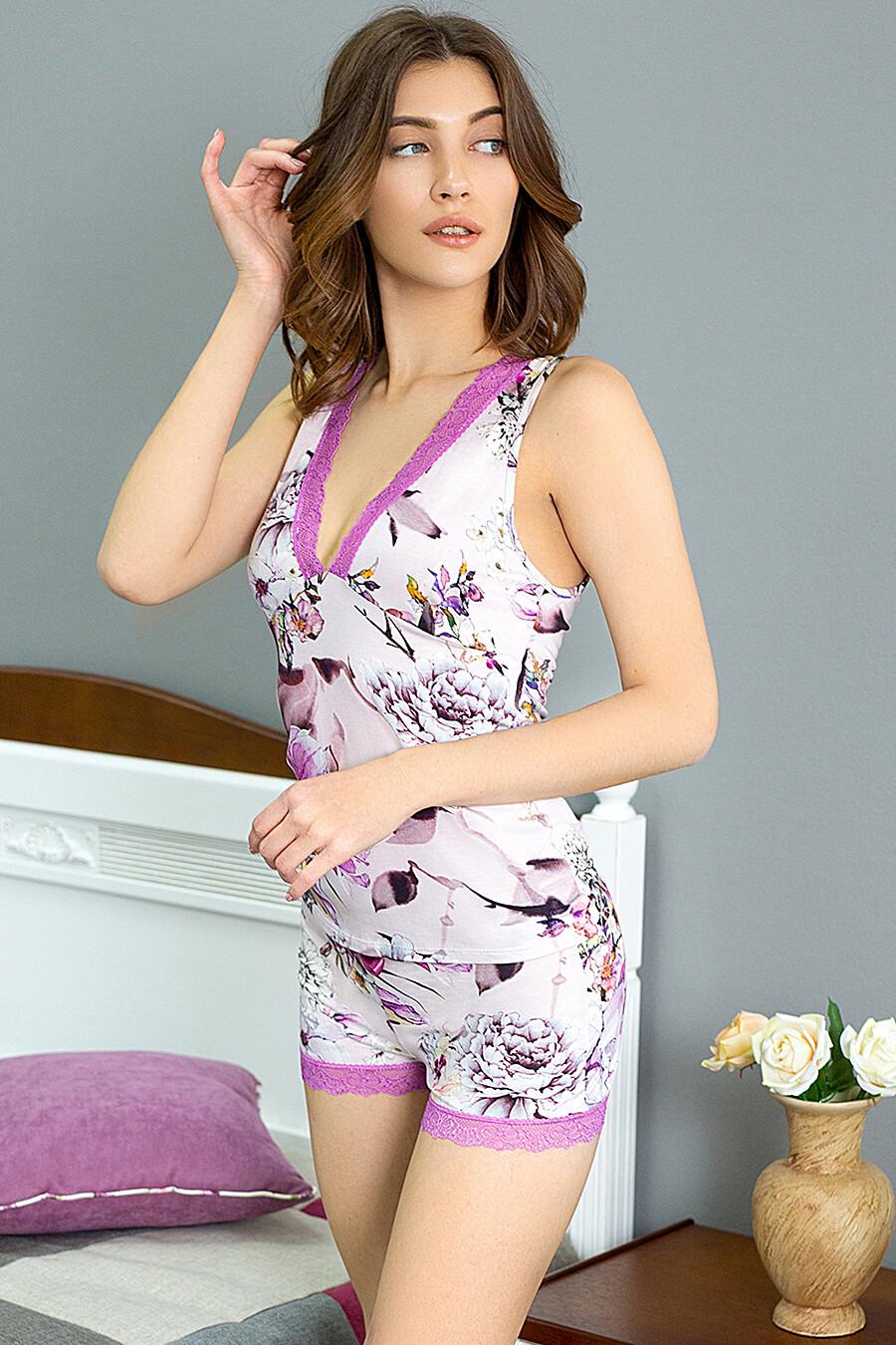 Пижама (Майка+Шорты) для женщин LEINLE 116782 купить оптом от производителя. Совместная покупка женской одежды в OptMoyo