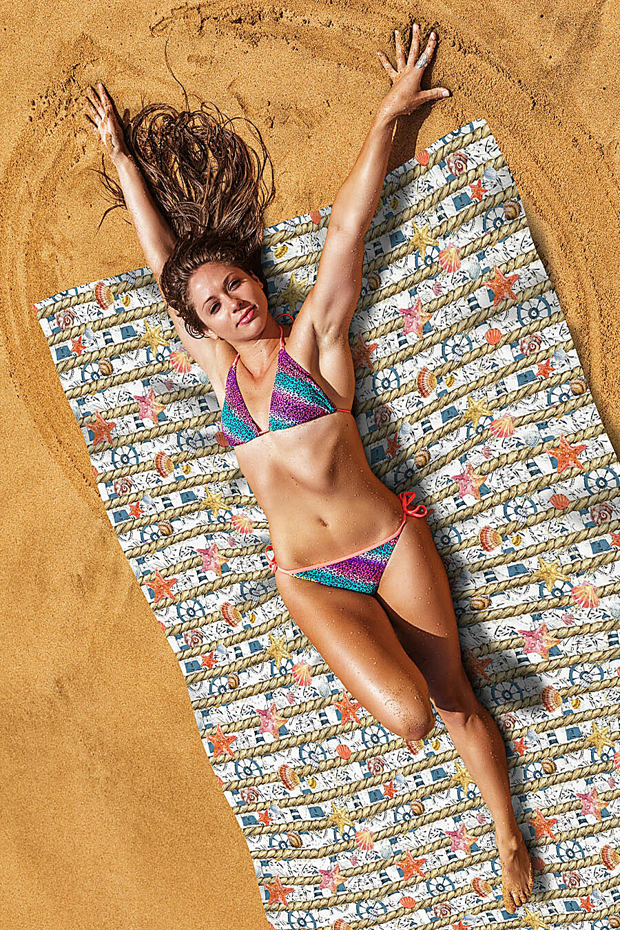 Пляжное покрывало для дома ART HOME TEXTILE 118120 купить оптом от производителя. Совместная покупка товаров для дома в OptMoyo