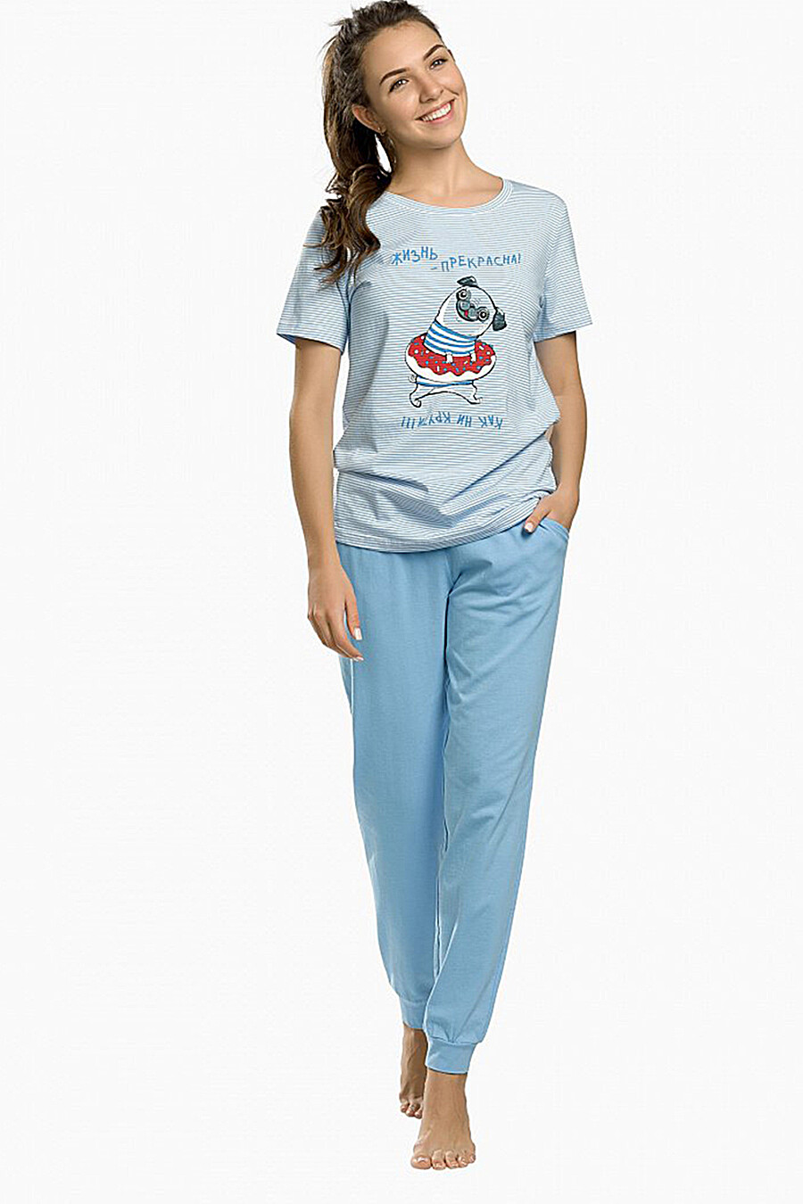 Комплект (Брюки+Футболка) для женщин PELICAN 131293 купить оптом от производителя. Совместная покупка женской одежды в OptMoyo