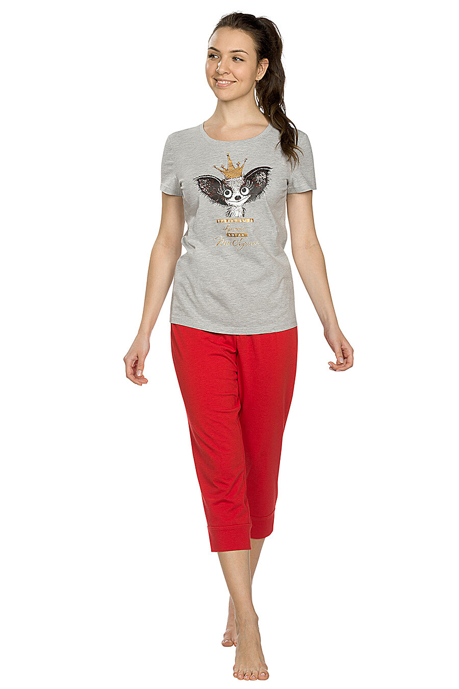 Комплект (Бриджи+Футболка) для женщин PELICAN 146701 купить оптом от производителя. Совместная покупка женской одежды в OptMoyo