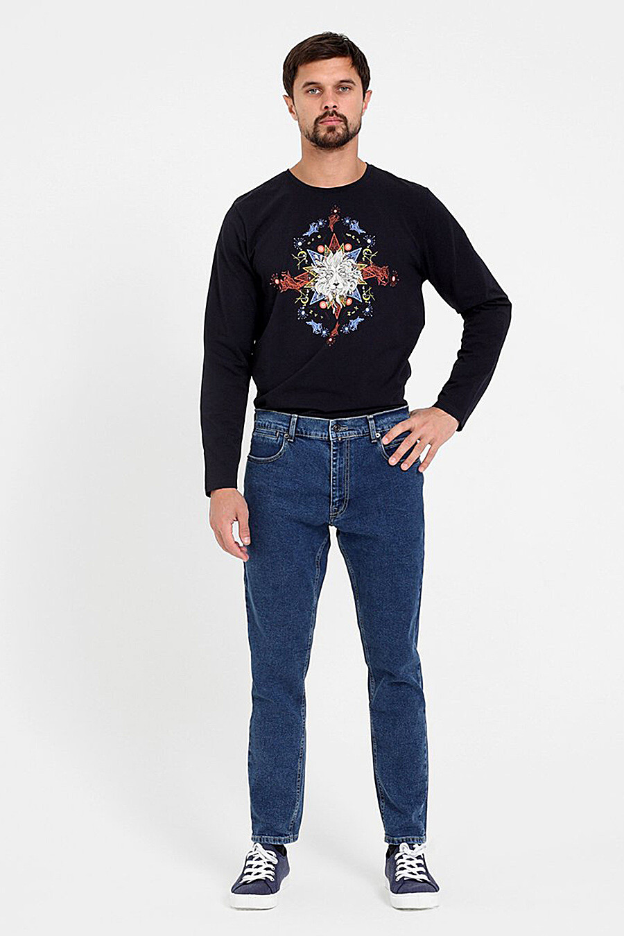 Джинсы для мужчин F5 153308 купить оптом от производителя. Совместная покупка мужской одежды в OptMoyo